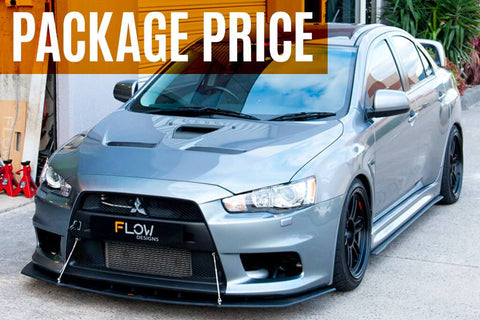 Flow Designs Full Lip Splitter Set - Lancer Evolution X - Option 2