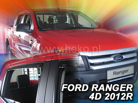 Team Heko Weather Shields - Ford Ranger MK3 PX)12-20 4 Door