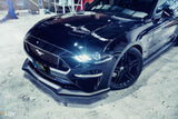 Black 2018 Mustang S550 FN Side Skirt Splitter