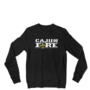 Cajun Fire Big Chief Crew - Black