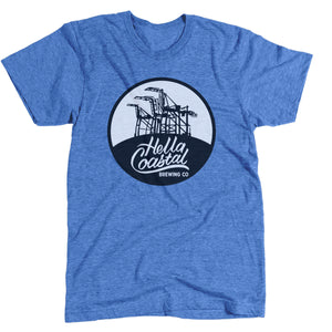 Hella Coastal Tri-Blend Tee - Royal