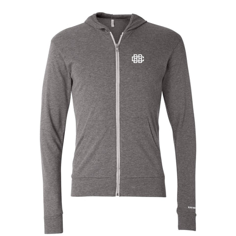 Circa '15 Zip Hoodie Tee - Heather Grey