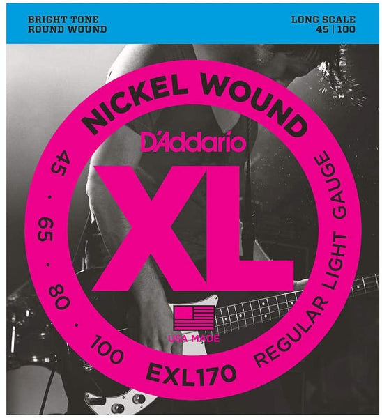 D'Addario EXL170 Bass Guitar Strings 45-100