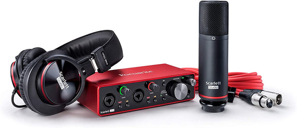 Scarlett Focusrite 2i2 Studio 3rd Generation Audio Interface Pack Haggertys Music