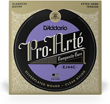 D'Addario-EJ44C-Pro-Arte-Composite-Classical-Guitar-Strings-Extra-Hard-Tension-Haggertys-Music