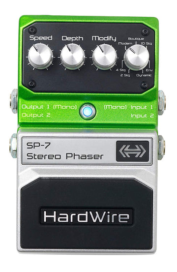 Digitech SP-7 Hardwire Stompbox Stereo Phaser with True Bypass