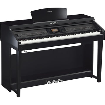 Yamaha CVP-701 Polished Ebony Clavinova ensemble console digital piano w/bench