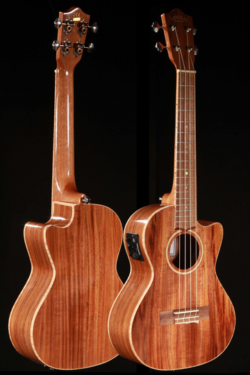 Lanikai ACS-CET Solid Acacia Tenor Ukulele Cutaway with Electronics Outfit