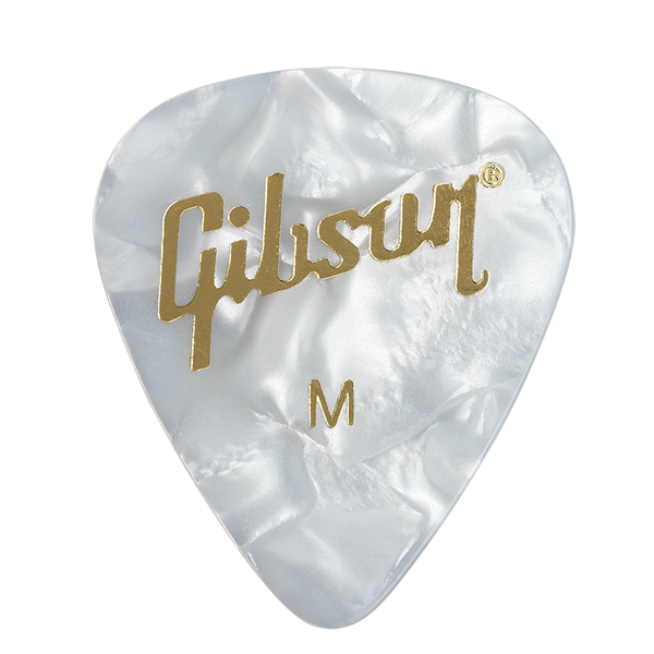 Gibson White Pearl Guitar Picks 12-Pack, Medium