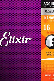 Elixir 11306 Acoustic Baritone String Set, .016-.070