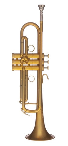 B&S X- Series MBX Heritage Bb Trumpet-Brushed Gold from Haggertys Music