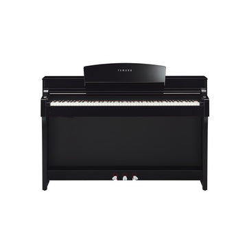 Yamaha CSP-150 Polished Ebony Clavinova tablet controlled smart piano w/bench
