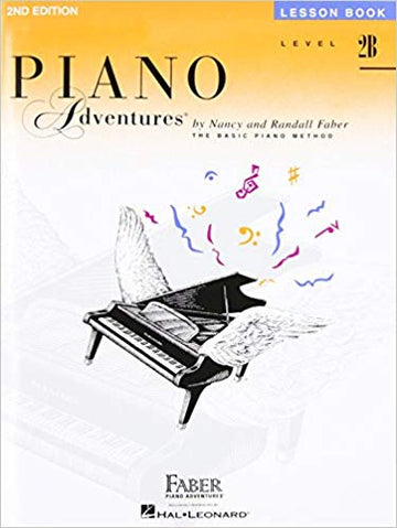 Level 2B - Lesson Book: Piano Adventures Paperback