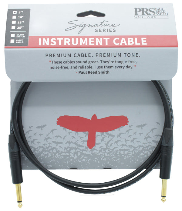 PRS 5ft Signature Instrument Cable Straight-Straight Haggertys Music