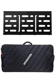 MONO Pedalboard Large, Black + Pro Accessory Case 2.0, Black