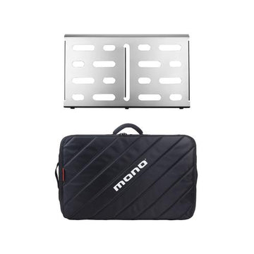 MONO Pedalboard Medium, Silver + Tour Accessory Case 2.0, Black