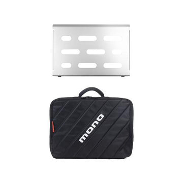 MONO Pedalboard Small, Silver + Club Accessory Case 2.0, Black