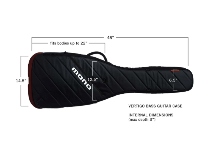MONO Vertigo Bass Guitar Case, Grey