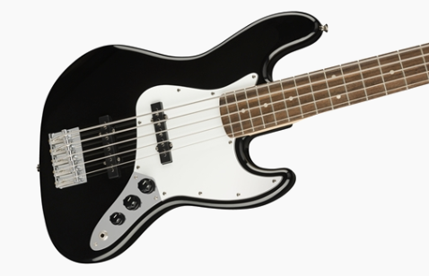 Squier Affinity Series Jazz Bass V (5-String) - Black