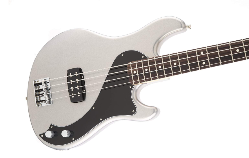 Fender Standard Dimension Bass IV Ghost Silver Solid-Body Electric Guitar