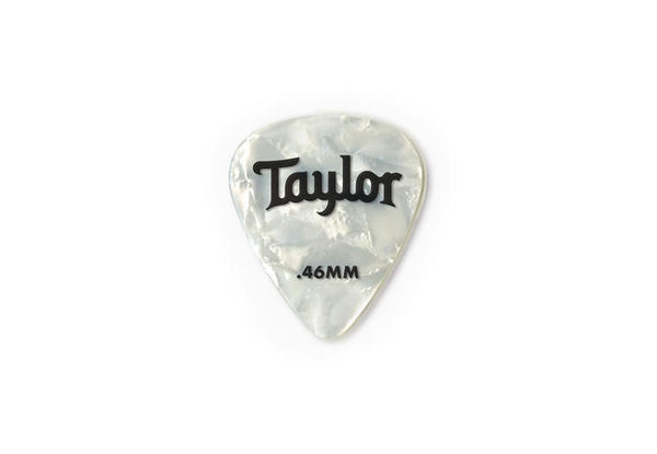 Taylor Celluloid 351 Picks, White Pearl, 12-Pack .46mm