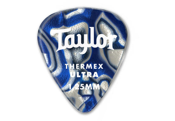 Taylor Premium Darktone 351 Thermex Ultra Picks, Blue Swirl, 1.00mm, 6-Pack