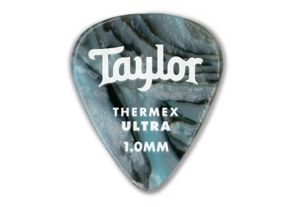 Taylor Premium Darktone 351 Thermex Ultra Picks, Abalone, 1.00mm, 6-Pack