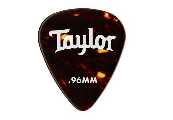 Taylor Celluloid 351 Picks, Tortoise Shell, 0.96mm, 12-Pack