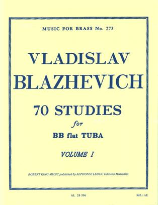 Vladislav Blazhevch 70 Studies for BB flat Tuba Volume I from Haggertys Music