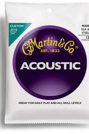 Martin M200 Acoustic 12 String Set, .0115-.047