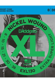 D'Addario EXL130 Electric String Set, .008-.038