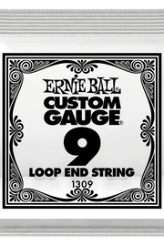 .009 Loop End Stainless Steel Plain Banjo or Mandolin Guitar Strings 6 Pack