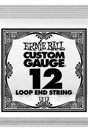 .012 Loop End Stainless Steel Plain Banjo or Mandolin Guitar Strings 6 Pack (1312)