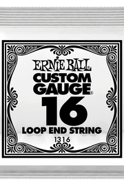 .016 Loop End Stainless Steel Plain Banjo or Mandolin Guitar Strings 6 Pack