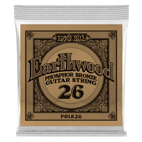 .026 Earthwood Phosphor Bronze Acoustic Guitar Strings 6 Pack (1826)