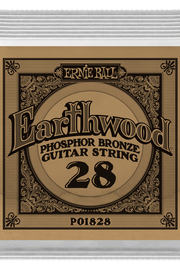 .028 Earthwood Phosphor Bronze Acoustic Guitar Strings 6 Pack (1828)