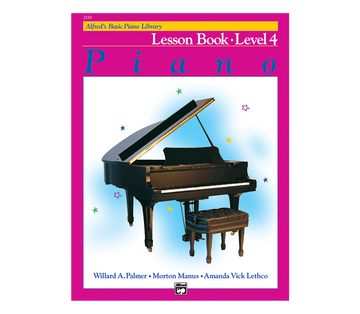 Alfred Alfred's Basic Piano Course Lesson Book Level 4