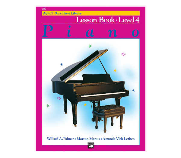 Alfred Alfred's Basic Piano Course Lesson Book Level 4 from Haggertys Music