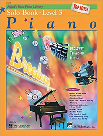 Alfred's Basic Piano Library Top Hits! Solo Book, Bk 3 Paperback