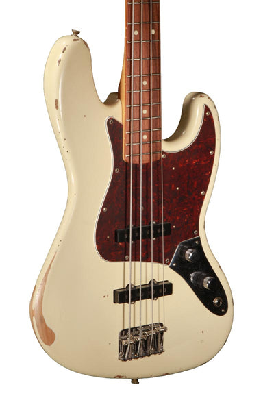 Fender 60th Anniversary Road Worn Jazz Bass Olympic White Haggertys Music