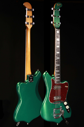 Fender Parallel Universe Maverick Dorado Mystic Pine Green Electric Guitar