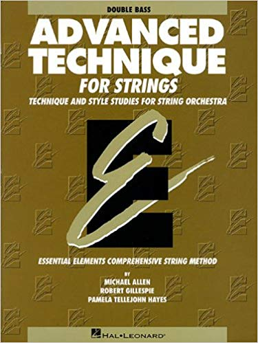 Advanced Technique for Strings (Essential Elements series): Double Bass Paperback