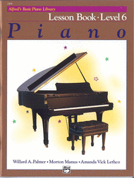 Alfred's Basic Piano Course Lesson Book, Level 6