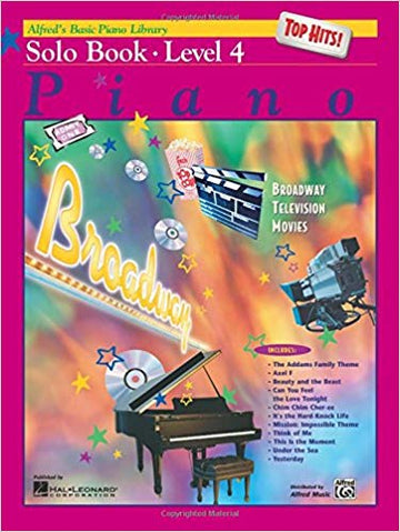 Alfred's Basic Piano Course Top Hits! Solo Book, Level 4 (Alfred's Basic Piano Library) Paperback
