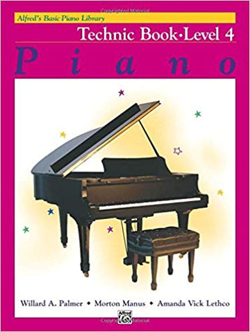 Alfred's Basic Piano Library Technic, Bk 4 Paperback
