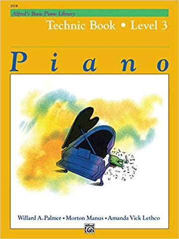 Alfred's Basic Piano Library Technic, Bk 3 Paperback