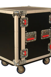 12U, Standard Road Rack Case w/ Casters (G-TOUR 12U CAST)