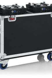 Flight Case for Two 250-Style Moving Head Lights (GTOURMH250)