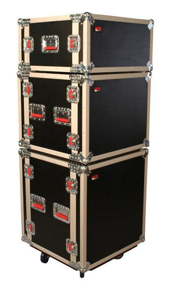 8U Shock Road Rack Case w/ Casters (G-TOUR SHK8 CAS)