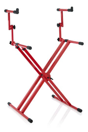 Red 2 Tier X Style Keyboard Stand  (GFW-KEY-5100XRED)